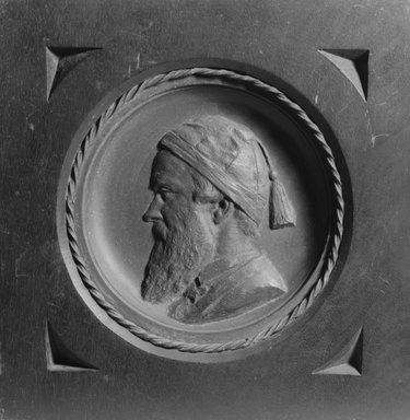 Brooklyn Museum: Plaque of John Mackie Falconer (Self-Portrait)