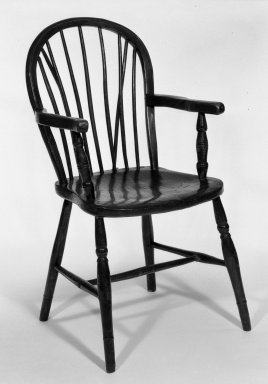 Armchair, ca. 1800. Oak, yew, ash, hickory, 35 x 19 x 19 in. (88.9 x 48.3 x 48.3 cm). Brooklyn Museum, Gift of Horace A. Lessells, 66.3. Creative Commons-BY