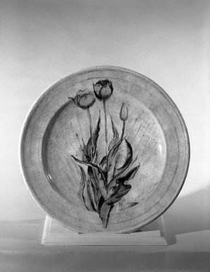 Henry Varnum Poor (American, 1887-1970). Plate, ca. 1925. Glazed red earthenware, 1 3/4 x 13 in. (4.4 x 33 cm). Brooklyn Museum, H. Randolph Lever Fund, 66.73.8. Creative Commons-BY