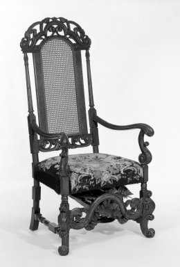 American. Chair, Charles II Revival, ca. 1910. Oak, cane back, 52 1/2 x 26 1/2 x 23 1/2 in. (133.4 x 67.3 x 59.7 cm). Brooklyn Museum, Bequest of Laura L. Barnes, 67.120.25a. Creative Commons-BY