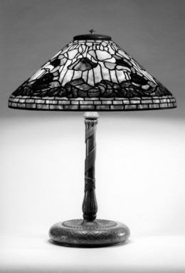 Tiffany Studios (1902-1932). Lamp, ca. 1910. Glass, bronze, and lead, 25 1/2 x 20 1/8 x 20 1/8 in. (64.8 x 51.1 x 51.1 cm). Brooklyn Museum, Bequest of Laura L. Barnes, 67.120.51. Creative Commons-BY