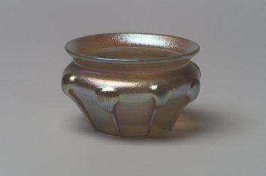 Tiffany Studios (1902-1932). Salt Cellar, ca. 1900-1920. Opalescent glass, 1 3/8 x 2 3/16 x 2 3/16 in. (3.5 x 5.6 x 5.6 cm). Brooklyn Museum, Bequest of Laura L. Barnes, 67.120.84. Creative Commons-BY