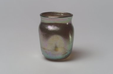 Tiffany Studios (1902-1932). Jar, ca. 1901-1905. Opalescent glass, 2 x 1 7/16 x 1 7/16 in. (5.1 x 3.7 x 3.7 cm). Brooklyn Museum, Bequest of Laura L. Barnes, 67.120.91. Creative Commons-BY