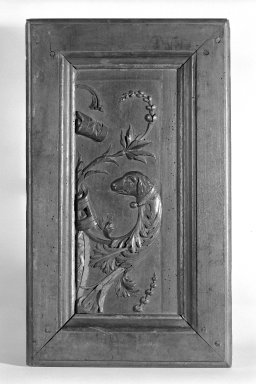 Panel From Door, ca. 1550. Walnut, 22 1/4 x 13 1/4 x 1 1/2 in. (56.5 x 33.7 x 3.8 cm). Brooklyn Museum, Gift of Susan D. Bliss, 67.122.11. Creative Commons-BY