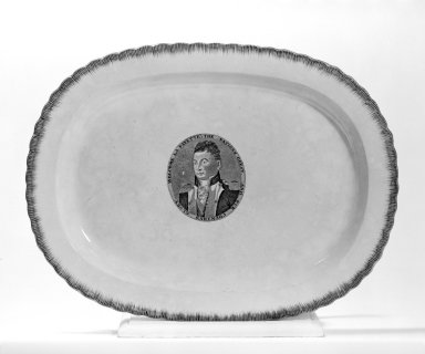 Clews Potworks. Platter (Lafayette), ca. 1825. Creamware, 17 x 12 7/8 in. (43.2 x 32.7 cm). Brooklyn Museum, Gift of Mr. and Mrs. Samuel Schwartz, 67.126.4. Creative Commons-BY