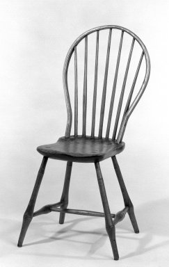 Windsor Chairs, ca. 1775. Pine, hickory, and ash, 37 x 17 1/2 x 18 1/2 in. (94 x 44.5 x 47 cm). Brooklyn Museum, Gift of Mr. and Mrs. Henry Sherman, 67.128.12a-b. Creative Commons-BY