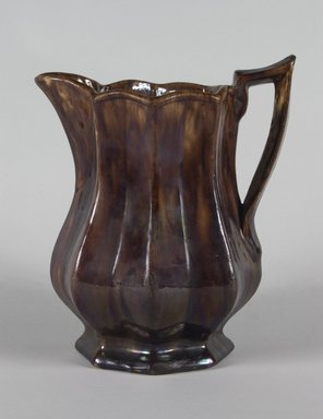 Otto Lewis. Pitcher, ca. 1850. Rockingham-glazed earthenware, 9 1/8 x 6 1/2 in. (23.2 x 16.5 cm). Brooklyn Museum, H. Randolph Lever Fund, 67.129.2. Creative Commons-BY