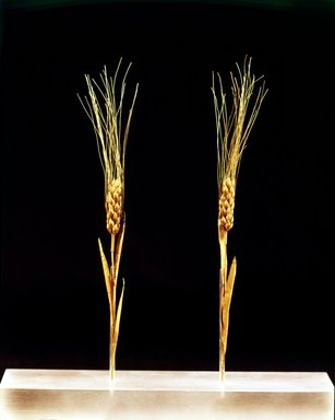 Ear of Wheat, 1 of 2, second half of 4th century B.C.E. Gold, Average Height: 8 7/8 in. (22.5 cm). Brooklyn Museum, Purchased with funds given by Mr. and Mrs. Carl L. Selden and Mrs. Frank K. Sanders, 67.13.1. Creative Commons-BY