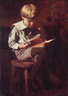 Thomas Pollack Anshutz (American, 1851-1912). Boy Reading: Ned Anshutz, ca. 1900. Oil on canvas, 38 1/16 x 27 1/16 in. (96.7 x 68.8 cm). Brooklyn Museum, Dick S. Ramsay Fund, 67.135