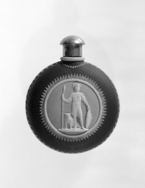 Wedgwood (1759-present). Scent Bottle, ca. 1840. Jasperware, 2 1/4 x 2 7/8 in. (5.7 x 7.3 cm). Brooklyn Museum, Gift of Samuel L. Zeigen, 67.16.4. Creative Commons-BY