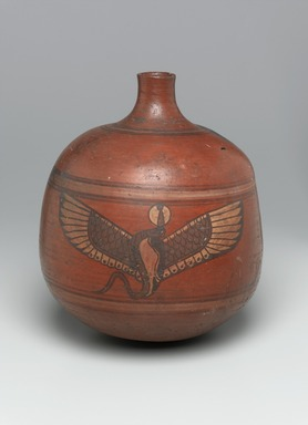 Nubian. Globular Vase with Cylindrical Neck, 2nd-3rd century C.E. Pottery, painted, 11 5/8 x Diam. 10 1/16 in. (29.5 x 25.6 cm). Brooklyn Museum, Charles Edwin Wilbour Fund, 67.177. Creative Commons-BY