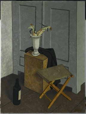 Niles Spencer (American, 1893–1952). Camp Chair, 1933. Oil on canvas, 40 1/4 x 30 1/16 in. (102.2 x 76.4 cm). Brooklyn Museum, Gift of the Edith and Milton Lowenthal Foundation, Inc., 67.182