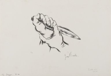 George Biddle (American, 1885-1973). The Dagger, 1930. Lithograph, Sheet: 8 1/4 x 11 1/2 in. (21 x 29.2 cm). Brooklyn Museum, Gift of George Biddle, 67.185.17b. © Estate of George Biddle