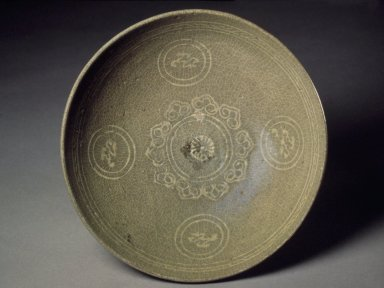 Bowl, last half of the 13th-first half of the 14th century. Stoneware with celadon glaze, Height: 2 3/8 in. (6 cm). Brooklyn Museum, Gift of Paul E. Manheim, 67.199.11. Creative Commons-BY