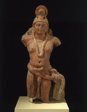 Nagaraja, 1st-2nd century. Sandstone, 47 x 18 x 10 3/8 in., 364 lb. (119.4 x 45.7 x 26.4 cm, 165.11kg). Brooklyn Museum, Frank L. Babbott Fund and A. Augustus Healy Fund, 67.202. Creative Commons-BY