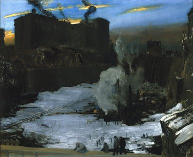 George Wesley Bellows (American, 1882-1925). Pennsylvania Station Excavation, ca. 1907-1908. Oil on canvas, 31 3/16 x 38 1/4 in. (79.2 x 97.1 cm). Brooklyn Museum, A. Augustus Healy Fund, 67.205.1