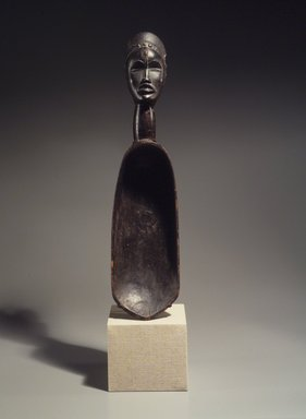 Dan. Feast Ladle (Wunkermian), late 19th-early 20th century. Wood, metal, 22 7/16 x 5 3/8 x 6 1/2 in. (57 x 13.7 x 16.5 cm). Brooklyn Museum, Gift of Mr. and Mrs. Arthur Wiesenberger, 67.209.1. Creative Commons-BY