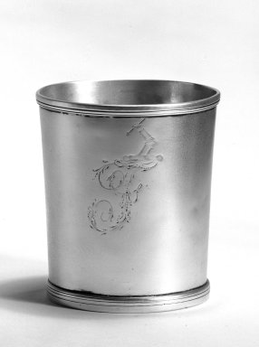 Samuel Richards. Beaker, ca. 1797-1818. Silver, 3 3/8 x 3 x 2 11/16 in. (8.6 x 7.6 x 6.8 cm). Brooklyn Museum, Gift of Mr. and Mrs. Edwin Kessler, 67.225.2. Creative Commons-BY
