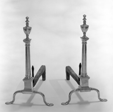 William Riddle. Andirons, ca. 1835. Brass, iron, 22 x 20 1/4 in. (55.9 x 51.4 cm). Brooklyn Museum, H. Randolph Lever Fund, 67.22a-b. Creative Commons-BY