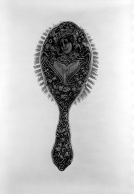American. Hair Brush, ca. 1900. Silver, 2 x 4 x 9 in. (5.1 x 10.2 x 22.9 cm). Brooklyn Museum, H. Randolph Lever Fund, 67.23. Creative Commons-BY