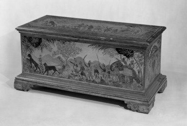 Max Kuehne (American, born Germany, 1880-1968). Blanket Chest, ca. 1921. Pine, gesso, lacquer, 21 1/4 x 44 1/2 x 19 1/2 in. (54 x 113 x 49.5 cm). Brooklyn Museum, Dick S. Ramsay Fund, 67.271.1. Creative Commons-BY