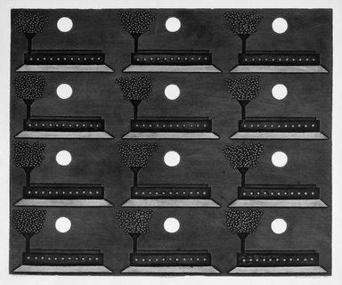 Sergio Gonzalez Tornero (Chilean, born 1927). Twelve Moons, 1966. Intaglio on paper, 19 3/4 x 23 3/4 in. (50.2 x 60.3 cm). Brooklyn Museum, Gift of Emilio Sanchez, 67.34.2. © Sergio Gonzalez Tornero