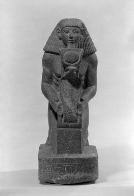Kneeling Statue of Senenmut, ca. 1478-1458 B.C.E. Granite, 18 9/16 x 6 7/8 x 9 7/16 in. (47.2 x 17.4 x 23.9 cm). Brooklyn Museum, Charles Edwin Wilbour Fund, 67.68. Creative Commons-BY