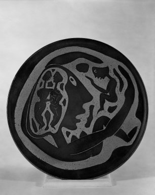 Ramos Collection. Plate, ca. 1952. Glazed earthenware, 16 3/4 in. (42.5 cm). Brooklyn Museum, H. Randolph Lever Fund, 67.76.1. Creative Commons-BY