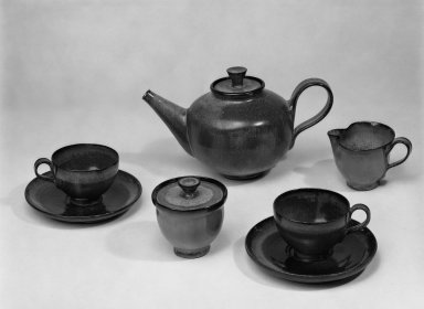 Ramos Collection. Tea Set, ca. 1965. Glazed earthenware, teapot with cover: 6 1/2 x 11 in. (16.5 x 27.9 cm). Brooklyn Museum, H. Randolph Lever Fund, 67.76.8a-i. Creative Commons-BY