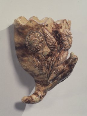 Anthony Wise Baecher (American, 1824-1889). Wall Pocket, ca. 1860. Glazed earthenware, 6 1/4 x 4 1/8 in. (15.9 x 10.5 cm). Brooklyn Museum, H. Randolph Lever Fund, 67.78. Creative Commons-BY