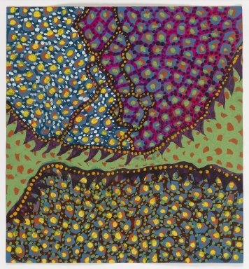 Yayoi Kusama (American, born 1929). Flower H. A. H., 1954. Tempera on paper, 12 1/4 x 11 5/16 in. (31.1 x 28.7 cm). Brooklyn Museum, Gift of Richard Castellane, 67.82.2. © Yayoi Kusama