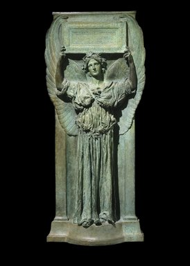 Augustus Saint-Gaudens (American, born Ireland, 1848-1907). Amor Caritas, 1898. Bronze, 39 7/8 x 17 3/4 x 5 in. (101.3 x 45.1 x 12.7 cm). Brooklyn Museum, Gift of Mr. and Mrs. Harris Klein, 68.184. Creative Commons-BY