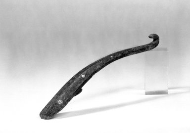 Garment Hook, 475-221 B.C.E. Bronze, inlaid with gold and turquoise, 7 1/4 in. (18.4 cm). Brooklyn Museum, Gift of Mr. and Mrs. Paul E. Manheim, 68.185.11. Creative Commons-BY
