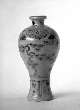 Mei P'ing Vase, 1368-1644. Stone ware, 6 3/4 x 3 1/2 in. (17.1 x 8.9 cm). Brooklyn Museum, Gift of Mr. and Mrs. Paul E. Manheim, 68.185.26. Creative Commons-BY