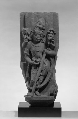 Bhairava (Siva in His Fierce From), ca. 9th-11th century. Sandstone, 26 1/2 x 10 3/4 in. (67.3 x 27.3 cm). Brooklyn Museum, Gift of Mr. and Mrs. Paul E. Manheim, 68.185.6. Creative Commons-BY