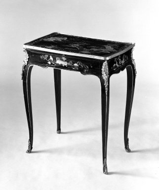 French. Writing Table, ca. 1770. Lacquered pine, walnut and oak, Overall: 27 5/8 x 23 7/8 x 15 3/4 in. (70.2 x 60.6 x 40 cm). Brooklyn Museum, Gift of the Estate of Mary Hayward Weir, 68.202.9. Creative Commons-BY