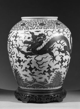 Large Jar, 1573-1619. Stoneware with underglaze, H: 21 1/8 (53.7 cm); Diam (at rim) 10 3/4 in. (27.3 cm). Brooklyn Museum, Gift of Herman H. Kahn, 68.204.2. Creative Commons-BY