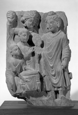 Fragment of a Bas Relief, ca. 2nd century. Schist, 15 1/4 x 11 x 2 3/4 in. (38.7 x 27.9 x 7 cm). Brooklyn Museum, Gift of Mr. and Mrs. Paul E. Manheim, 68.206.4. Creative Commons-BY