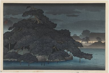 Kawase Hasui (Japanese, 1883-1957). Untitled, 1920. Woodblock color print, 9 1/2 x 14 1/2 in. (24.1 x 36.8 cm). Brooklyn Museum, Carll H. de Silver Fund, 68.35.4