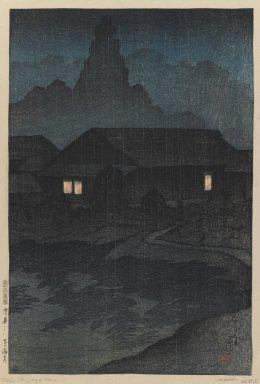 Kawase Hasui (Japanese, 1883-1957). Tabi Miyage Dai 1 - Shu, Mutsu-Tsuta Onsen, 1919. Woodblock color print, 14 x 9 1/2 in. (35.6 x 24.1 cm). Brooklyn Museum, Carll H. de Silver Fund, 68.35.5