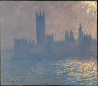 Claude Monet (French, 1840-1926). Houses of Parliament, Sunlight Effect (Le Parlement, effet de soleil), 1903. Oil on canvas, 32 x 36 1/4 in. (81.3 x 92.1 cm). Brooklyn Museum, Bequest of Grace Underwood Barton, 68.48.1