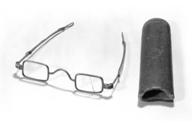 Case for Spectacles, 18th century. Leather Brooklyn Museum, Gift of Reverend Cornelius Vander Naald, 68.6.3b. Creative Commons-BY