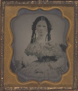 Mary Jane Walker, Mother of Donor. Tintype Brooklyn Museum, Gift of Josephine and Henrietta Walker, 68.79.11