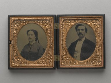 Mary Jane Walker and Joseph Walker, Parents of Donors, n.d. Tintype, Image (sight, each): 2 1/2 x 2 in. (6.4 x 5.1 cm). Brooklyn Museum, Gift of Josephine and Henrietta Walker, 68.79.12