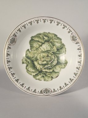 Union Porcelain Works (1863-circa 1922). Salad Bowl, ca. 1885. Porcelain, 3 1/2 x 9 7/8 x 9 7/8 in. (8.9 x 25.1 x 25.1 cm). Brooklyn Museum, Gift of Franklin Chace, 68.87.1. Creative Commons-BY