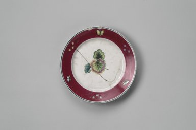 Union Porcelain Works (1863-ca.1922). Fruit Plate, ca. 1880. Porcelain, 1 x 7 3/8 x 7 3/8 in. (2.5 x 18.7 x 18.7 cm). Brooklyn Museum, Gift of Franklin Chace, 68.87.17. Creative Commons-BY