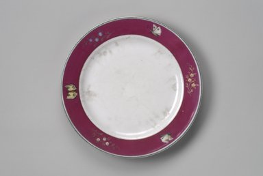 Union Porcelain Works (1863-ca.1922). Plate, ca. 1879. Porcelain, 1 1/8 x 9 5/8 x 9 5/8 in. (2.9 x 24.4 x 24.4 cm). Brooklyn Museum, Gift of Franklin Chace, 68.87.18. Creative Commons-BY