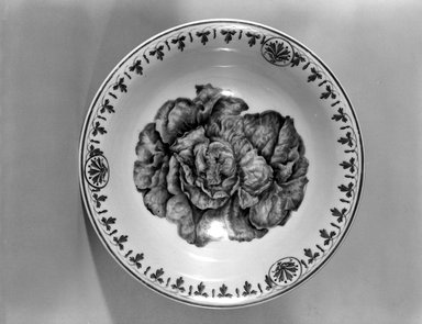 Union Porcelain Works (1863-ca.1922). Salad Bowl, ca. 1885. Porcelain, 3 1/2 x 9 7/8 x 9 7/8 in. (8.9 x 25.1 x 25.1 cm). Brooklyn Museum, Gift of Franklin Chace, 68.87.1. Creative Commons-BY
