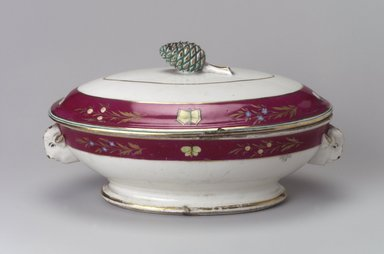 Union Porcelain Works (1863-ca.1922). Vegetable Dish and Cover, ca. 1879. Porcelain, 5 5/8 x 10 1/2 x 6 3/8 in. (14.3 x 26.7 x 16.2 cm). Brooklyn Museum, Gift of Franklin Chace, 68.87.20a-b. Creative Commons-BY