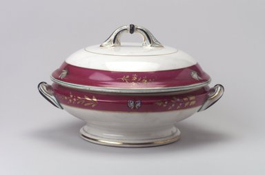 Union Porcelain Works (1863-ca. 1922). Vegetable Dish and Cover, ca. 1879. Porcelain, 6 1/8 x 9 15/16 x 8 3/4 in. (15.6 x 25.2 x 22.2 cm). Brooklyn Museum, Gift of Franklin Chace, 68.87.24a-b. Creative Commons-BY